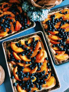 Wedding Cake   Summer Dream Lemon Curd, Blueberry and Peach Tart (Gluten Free, Dairy Free Option)