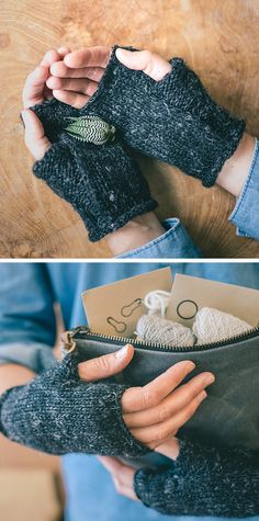 Wabi Mitts free knitting pattern
