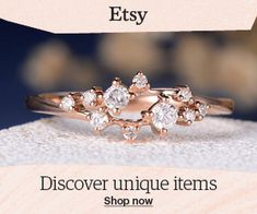 Engagement Ring Diamond Cluster Ring Twig Floral Unique Wedding Band Snowflake Rose Gold Dainty Flower Mini Gift Anniversary Promise Women - Another! Wedding Rings Simple, Wedding Rings Rose Gold, Unique Rings, Wedding Jewelry, Gold Jewelry, Unique Promise Rings, Quartz Jewelry, Bridal Rings, Silver Bracelets