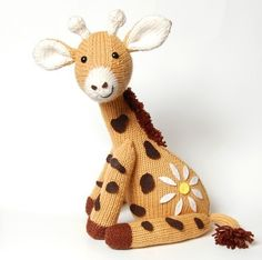 NEW PDF  Knitting Pattern for Jasmine the Giraffe by oliverboliver, $6.00