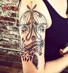 Luna moth life tattoo by David Hale