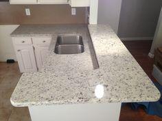 Ivory Fantasy Granite Complemented By Oak Island Top. | Granite Worktops |  Pinterest | Tops, Oak Island And Islands