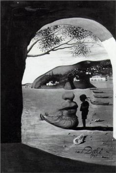 """Mysterious Mouth Appearing in the Back of My Nurse"" by Salvador Dali"
