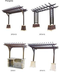 Trellis idea - outside on the south side of the deck fence and above the outdoor cooking area Pergola With Roof, Wooden Pergola, Outdoor Pergola, Diy Pergola, Covered Pergola, Small Pergola, Cheap Pergola, Outdoor Awnings, Rustic Pergola