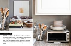 How to Style Kitchen Countertops: Small Space.