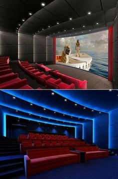 Home Theater Lighting, Home Theater Room Design, Home Cinema Room, Home Theater Decor, Best Home Theater, At Home Movie Theater, Home Theater Speakers, Home Theater Projectors, Home Theater Rooms