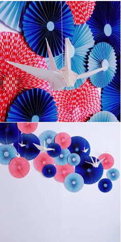 Japanese style decoration using paper crane. Visit japan-marche.com to find traditional and designed, quality Japanese items for your new year!