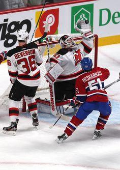 CrowdCam Hot Shot  New Jersey Devils goalie Martin Brodeur makes a save  against Montreal Canadiens center David Desharnais as defenseman Damon  Severson ... 06d89fd65