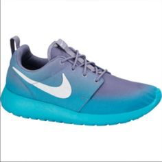 ISO (in search of) Nike Roshes Looking for Nike Roshes blue ombré or black or white! Looking to spend $50-60 but in a great condition size 8.5 possibly 8 Nike Shoes Athletic Shoes