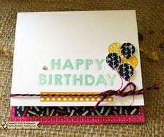 Party Wishes Card Party Wishes Stamp Set it is available in Wood (W) item #140651 or Clear (C) item #140961 Party Punch Pack item #140608 Bundle (W) item #141073  (C) item #141071 Project Life Day to Day Photopolymer Stamp Set item #135785 Big Shot item #113439 Baker's Box Thinlits item #138279 Stampin' Up! Demo Holly Krautkremer #birthday #partywishes #rubberredneck #sudemo