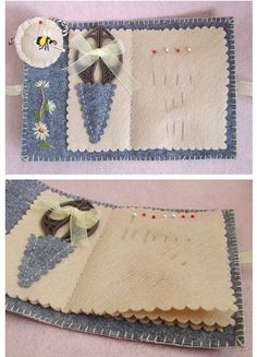 Super adorable needle book.. Love the idea with the mini scissors pouch.. No instructions.. Posting for inspiration..