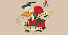 donald and daisy duck vintage | Daisy's New Tattoo