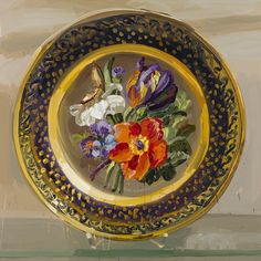 Plate Painting by Jan DeVliegher