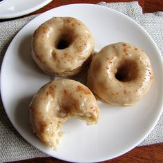 Rumbly In My Tumbly: Baked Banana Donuts with Brown Butter Glaze