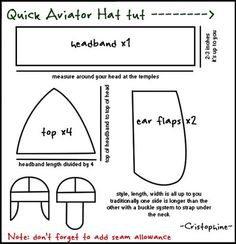 Quick Aviator hat tutorial >don't need now but you never know