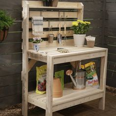 Check out this project on RYOBI Nation - This potting bench is a great addition to your backyard and keeps all your gardening tools organized and easily accessible.