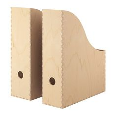 IKEA - KNUFF, Revistero, juego de 2, Madera sin tratar. Puedes tratarla con aceite o pintura esmaltada para darle un toque personal y una superficie más duradera.