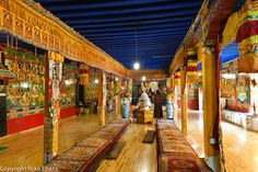 Tibetan room - this time with a blue ceiling