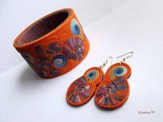 bransoletka, kolczyki, biżuteria z modeliny, modelina, polymer clay,