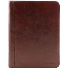 Lucio - Nydelig dokumentveske med ringperm - Brun Leather Briefcase, Leather Bag, Art Du Cuir, Ring Organizer, Tuscan Design, Ring Binder, Business Card Holders, Pen Holders, Leather Interior