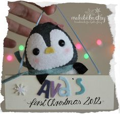FIRST CHRISTMAS ORNAMENT first christmas personalized by mukibaba