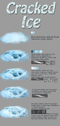 Ice tutorial by NThartyFievi.deviantart.com on @DeviantArt
