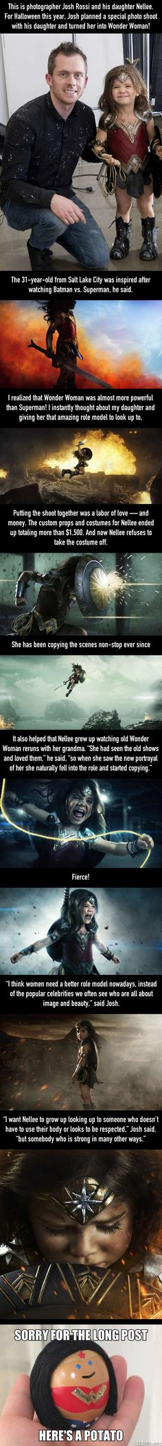 A Dad Had An Incredible Wonder Woman Halloween Photoshoot For His Daughter (By Josh Rossi) - 9GAG