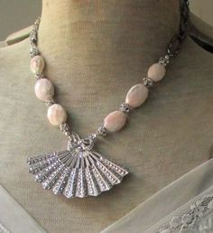 vintage assemblage necklace  STERLING FAN  with by TheFrenchCircus, $187.00