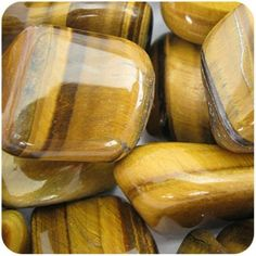 GOLD TIGER EYE - Tumbled Stones 5 LARGE Crystals