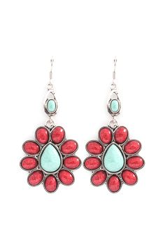 Melody Earrings in Poppy