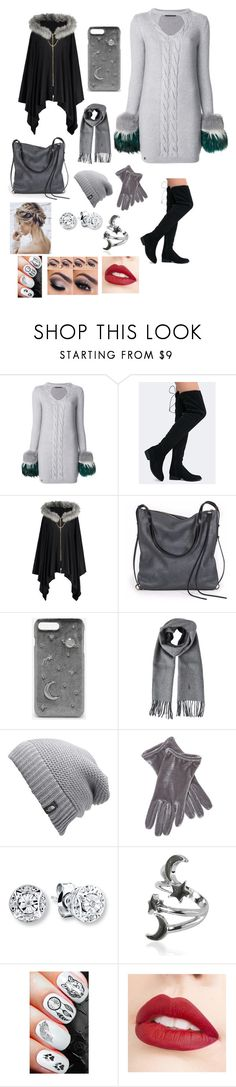 """Going On A Winter Date"" by wingsofafairy ❤ liked on Polyvore featuring Philipp Plein, Qupid, Ina Kent, CHARLES & KEITH, Polo Ralph Lauren, The North Face, Portolano and Jouer"