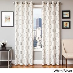 Maxwell Lined Grommet Top Curtain Panel - 18594107 - Overstock - Great Deals on Curtains - Mobile