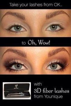 3D mascara! Before and after! Order yours today! Only $29 Www.youniqueproducts.com/marislashes