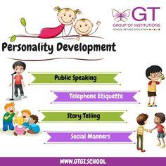 Personality Development Activities, Public Speaking, Manners, Etiquette, Storytelling, Activities For Kids, Education, Children, School