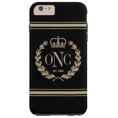 3 Custom Initials Monogrammed Logo Tough iPhone 6 Plus Case