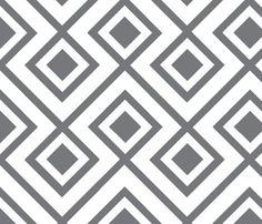Connect the Blocks-Charcoal fabric by honey for sale on Spoonflower - custom fabric, wallpaper and wall decals