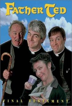 I'm for - things that make me laugh until I fall down! Father Ted Crazy sitcom about 3 priests and their housekeeper who live on Craggy Island, not the peaceful and quiet part of Ireland it seems! British Comedy Series, British Tv Comedies, Classic Comedies, British Actors, Father Ted, Happy Father, Uk Tv Shows, Tv Shows Online, Irish Movies