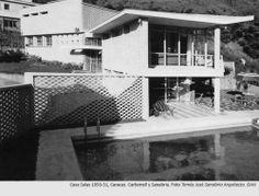 Casa Salas 1950-1951, Caracas. Carbonell y Sanabria. Foto Arq.Tomás José Sanabria