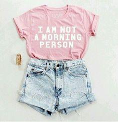 New fashion teenage summer shirts Ideas Pink Fashion, Cute Fashion, Teen Fashion, Fashion Outfits, Womens Fashion, Style Fashion, Fashion Ideas, Fashion Clothes, Teenager Fashion