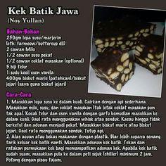 Kek batik jawa
