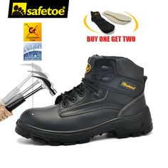 bb4b711d6a34b Safetoe Safety Shoes Work Boots Men Steel Toe Cap Nubuck Leather Breathable  UK Size 2-13 Hiker Abrasion Resistant S3 SRC. Yesterday s price  US  61.85  ...