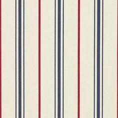 Ralph Lauren Sunbrella Marina Stripe Admiral upholstery - Sunbrella fabric samples available Outdoor Upholstery Fabric, Sunbrella Fabric, Outdoor Fabric, Indoor Outdoor, Ralph Lauren Fabric, Spider Art, Nautical Stripes, Wood Stamp, Colorful Wall Art