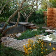 Outdoor Jacuzzi - Twenty Five Outdoor Whims Small Backyard Gardens, Modern Backyard, Backyard Garden Design, Modern Landscaping, Small Gardens, Backyard Landscaping, Outdoor Gardens, Outdoor Spa, Modern Courtyard