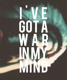 been tryin' hard not to get into trouble, but I've got a war in my mind // ride // lana del rey