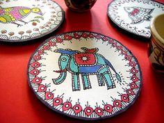 madhubani art coasters