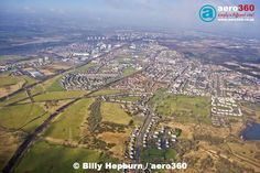 Wishaw & Motherwell, Lanarkshire, Scotland, UK. View looking North-West from overhead Waterloo. Photo taken from Cessna 152 aircraft G-BHFC on 13/03/15. #aerial #aviation #photography #aero360 #ml1 #motherwell #ml2 #wishaw #lanarkshire #scotland #uk