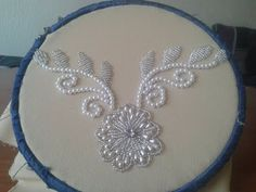 embroidery beautiful rose beads - YouTube