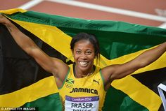 "Shelly Ann Fraser Pryce, Jamaican runner who give the USA a ""run"" (haha see how i did that?) for there money!"