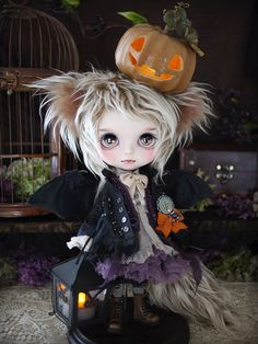 Halloween costume by Milk Tea Doll Society@Tumblr