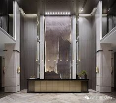 Best Place to find hotel lobby design Modern Hotel Lobby, Hotel Lobby Design, Reception Desk Design, Hotel Reception, Office Reception, Lobby Interior, Interior Design, Hotel Decor, Luxury Homes